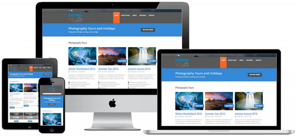 Web hosting for tour operator website in Worthing