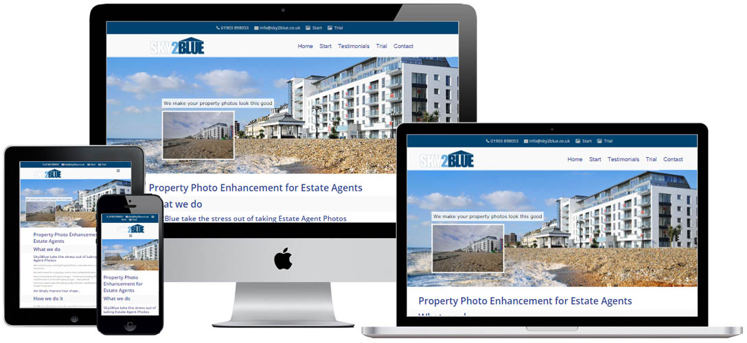 Website design for local business in Worthing