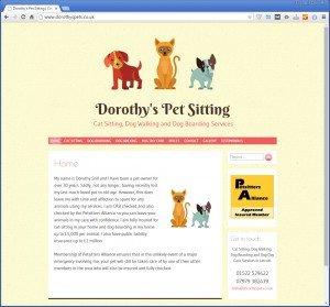 Websites for Dog Sitting and Pet Sitting