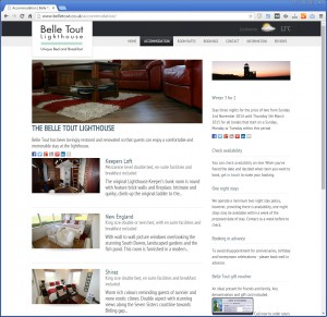 Website with Hotel Room Information