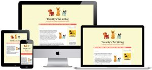 Web design for dog sitting in Lincolnshire