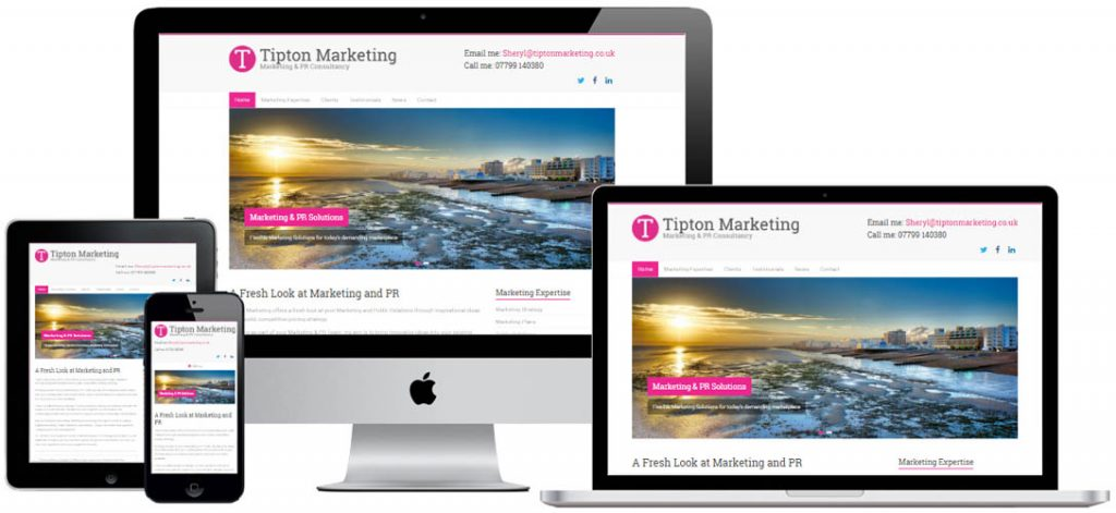 Web design for marketing company in Worthing