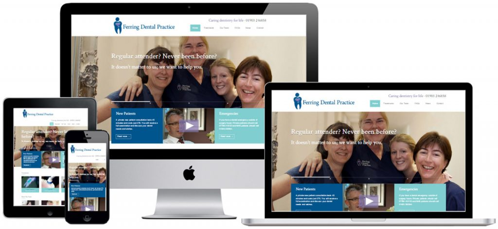 Website for Dentist in Ferring, Worthing