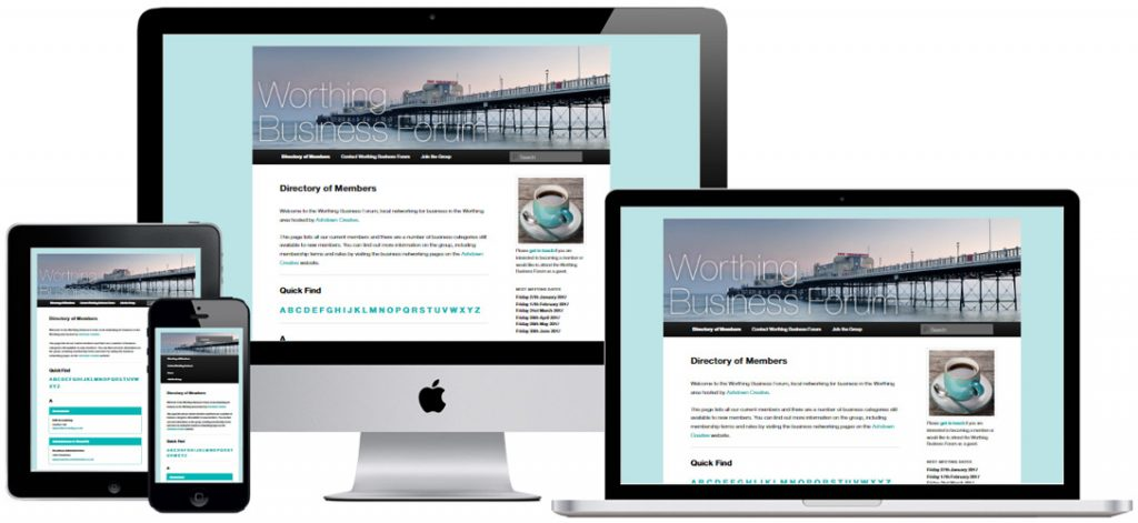 Web design for business networking in Worthing